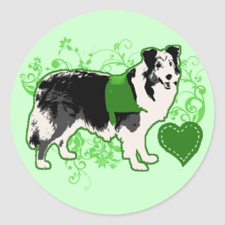 (Therapy) Fleur Green Classic Round Sticker