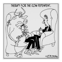 Therapy For The Cow Dependent Poster