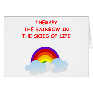 therapy greeting card