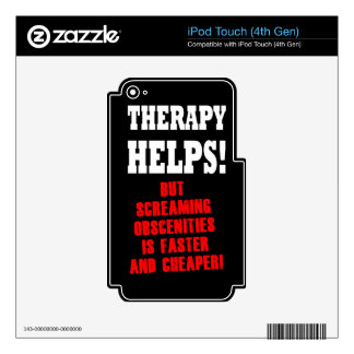 THERAPY HELPS iPod TOUCH 4G SKIN