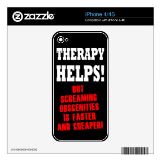 THERAPY HELPS iPhone 4 DECALS