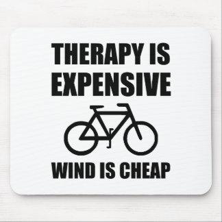 Therapy Is Expensive Wind Is Cheap Bicycle Mouse Pad