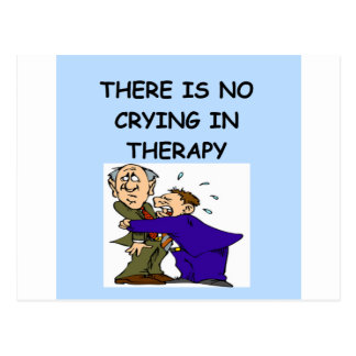 therapy joke postcard