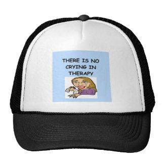 therapy joke trucker hat