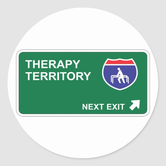 Therapy Next Exit Classic Round Sticker