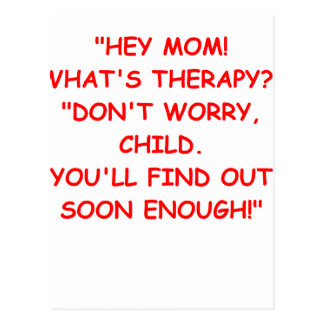 therapy postcard
