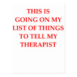 therapy postcards