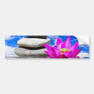 Therapy Rock Stones & Lotus Flower Car Bumper Sticker