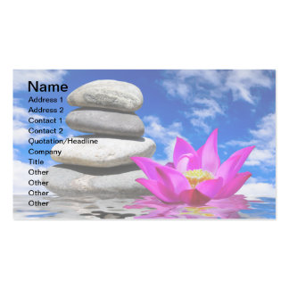 Therapy Rock Stones & Lotus Flower Business Card Template