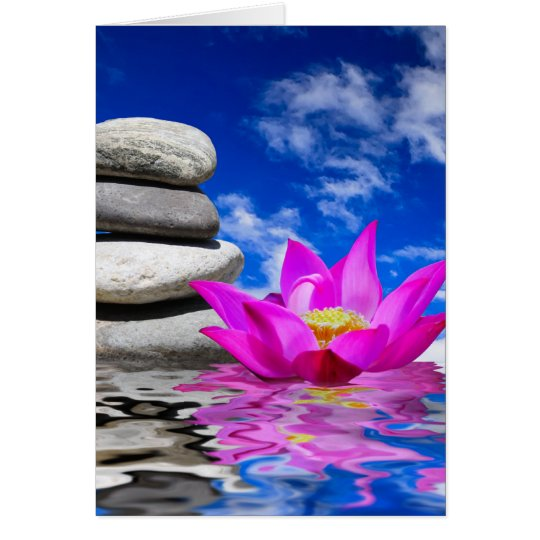 Therapy Rock Stones & Lotus Flower Card