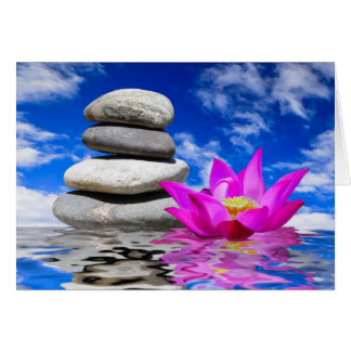 Therapy Rock Stones & Lotus Flower Cards