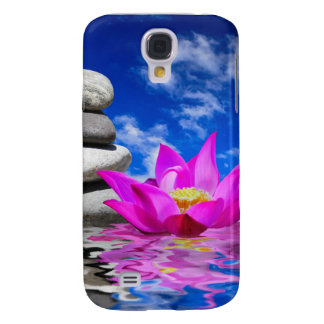 Therapy Rock Stones & Lotus Flower Samsung Galaxy S4 Covers