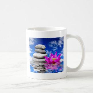 Therapy Rock Stones & Lotus Flower Coffee Mug