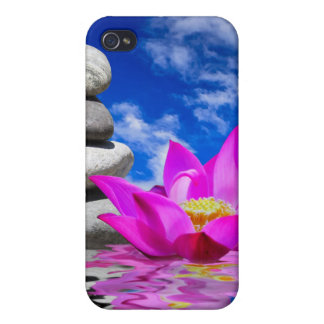 Therapy Rock Stones & Lotus Flower iPhone 4 Cover