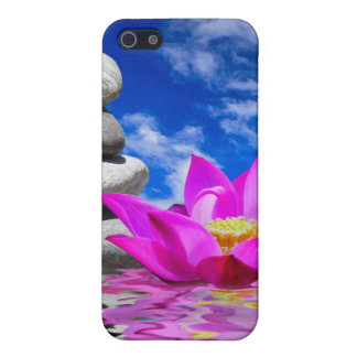 Therapy Rock Stones & Lotus Flower iPhone 5 Case
