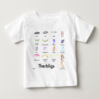Therbligs Baby, front print Baby T-Shirt