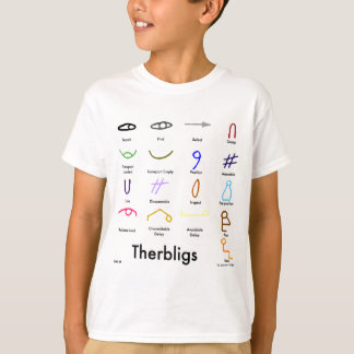 Therbligs Kid's Tee, front print T-Shirt