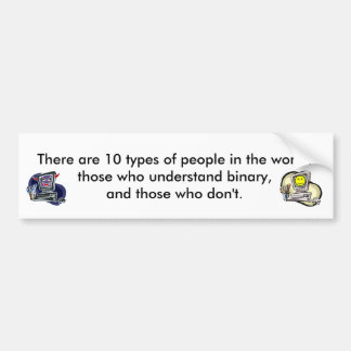 There 10 types of people car bumper sticker
