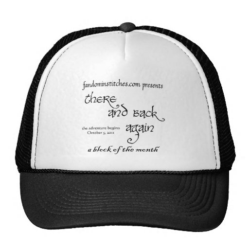 There and Back Again - A Block of the Month Trucker Hats