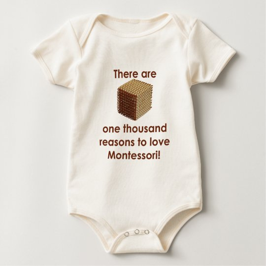 There are 1000 Reasons to Love Montessori Baby Bodysuit