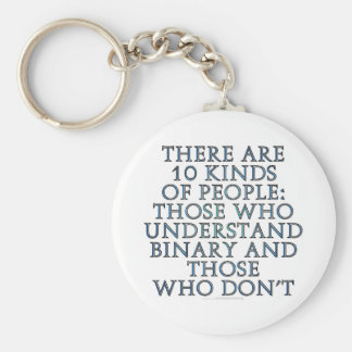 There are 10 kinds of people... basic round button keychain