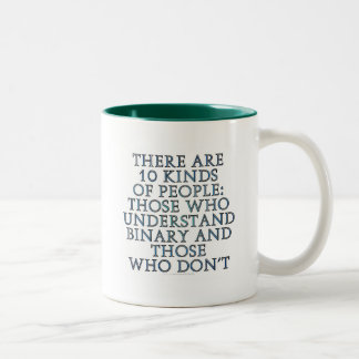There are 10 kinds of people... Two-Tone coffee mug