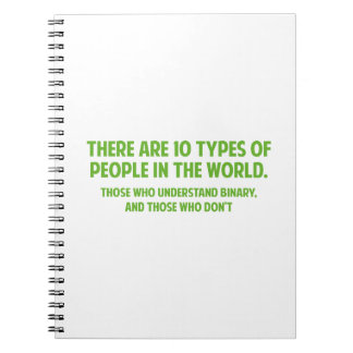 There Are 10 Types Of People In The World Notebook