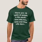 There are 10 types of people in this world : Th... T-Shirt