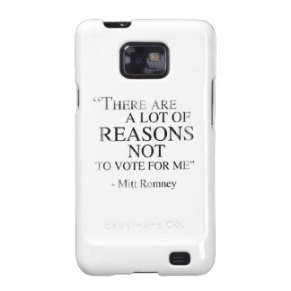There are a lot of reasons not to vote for me Fade Samsung Galaxy S Cases