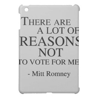 There are a lot of reasons not to vote for me case for the iPad mini