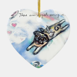 There are angels among us ceramic ornament