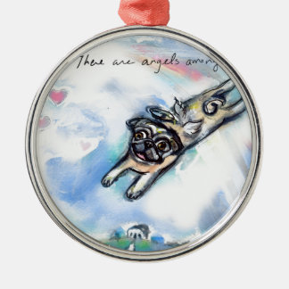 There are angels among us metal ornament