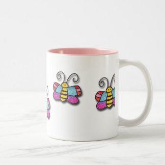 There Are Butterflies On My Mug! Two-Tone Coffee Mug