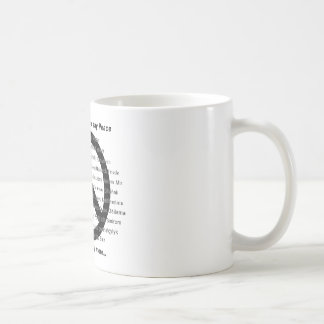 There are many ways to say peace with symbol coffee mugs