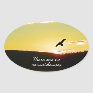 There Are No Coincidences Oval Sticker