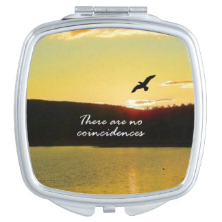 There Are No Coincidences Travel Mirror