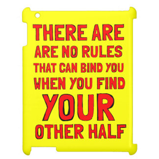 """""""There are No Rules"""" 631 Art iPad Case"""