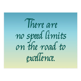 There are no speed limits postcard