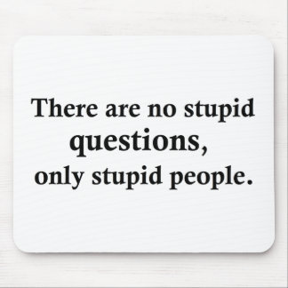 There are no stupid questions, mouse pad