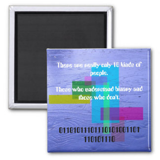 There are really only 10 kinds of people 2 inch square magnet