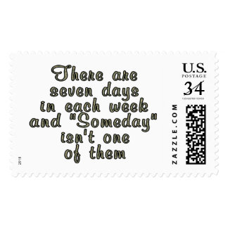 There are seven days in each week... postage stamp