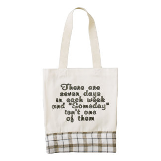 There are seven days in each week... zazzle HEART tote bag