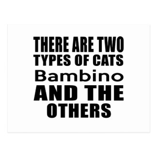 THERE ARE TWO TYPES OF CATS Bambino AND THE OTHERS Postcard