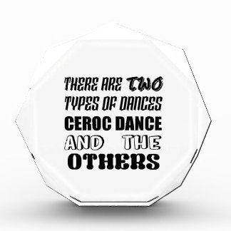 There are two types of Dance  Ceroc dance and othe Acrylic Award