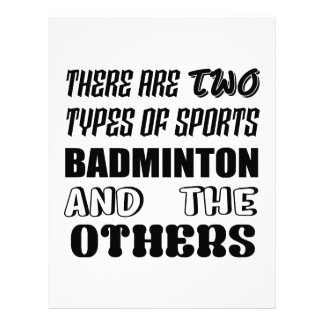 There are two types of sports BADMINTON and others Letterhead