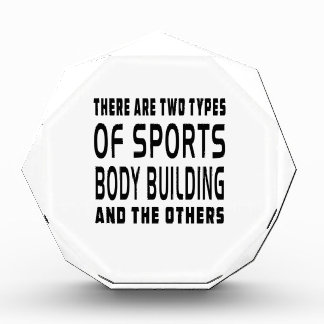 There Are Two Types Of Sports Body Building Acrylic Award