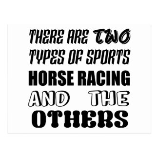 There are two types of sports Horse Racing and oth Postcard
