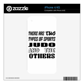 There are two types of sports Judo and others Decals For The iPhone 4