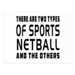 There Are Two Types Of Sports Netball Postcards