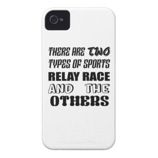 There are two types of sports Relay Race and other Case-Mate iPhone 4 Case
